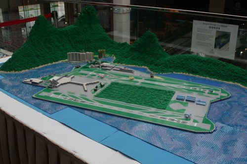 Lego model of Hong Kong International Airport