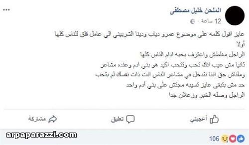 تاكيد زواج عمرو دياب و دينا الشربيني (1)