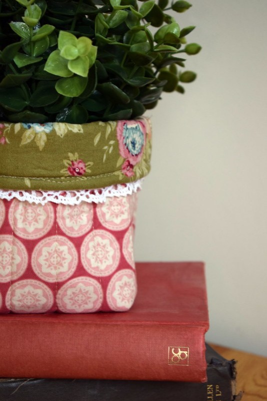 Quilted Plant Pot Cover