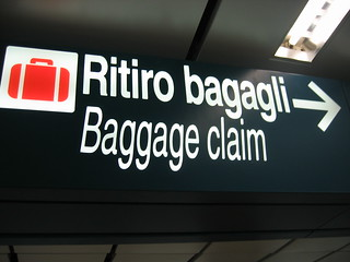 Signage in the Rome Airport