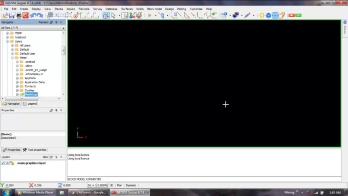 Working with Dassault Systemes GEOVIA Surpac 6.7.4 full license