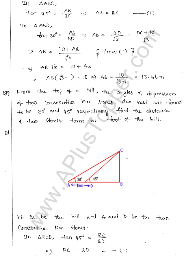 ml-aggarwal-icse-solutions-for-class-10-maths-chapter-21-heights-and-distances-18