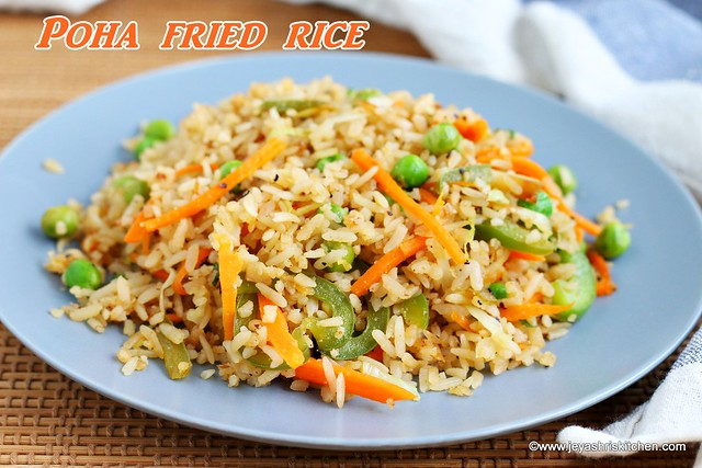 Poha fried rice