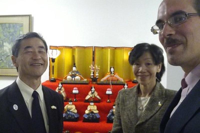 Recepción en la residencia del excelentísimo embajador de Japón en Ecuador, sr. Noda Hitoshi y su encanadora mujer.