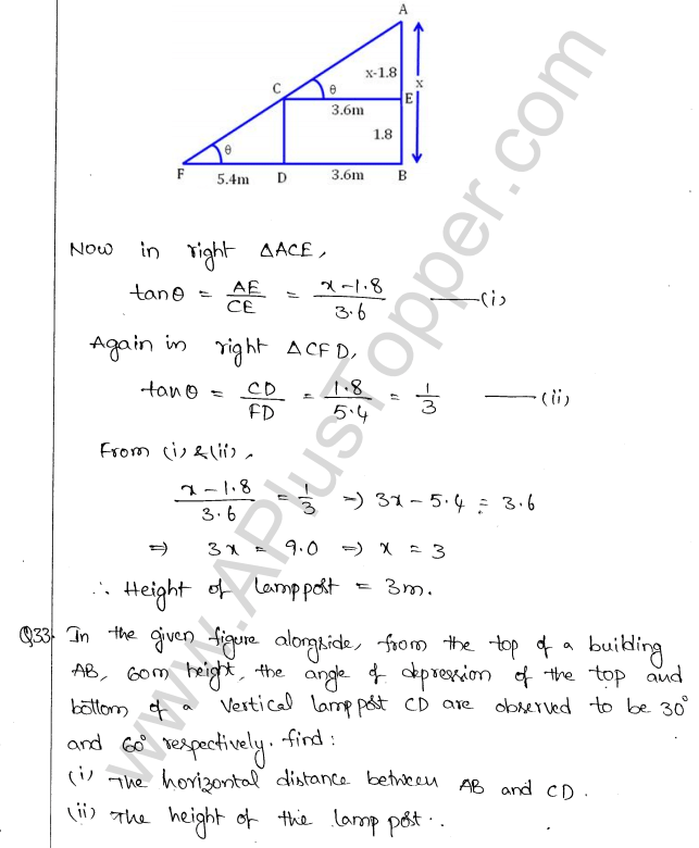 ml-aggarwal-icse-solutions-for-class-10-maths-chapter-21-heights-and-distances-35