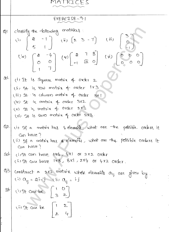 ml-aggarwal-icse-solutions-for-class-10-maths-chapter-9-matrices-1