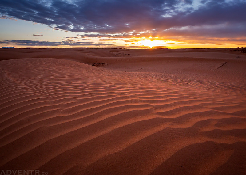 Sand Ripple Sunset