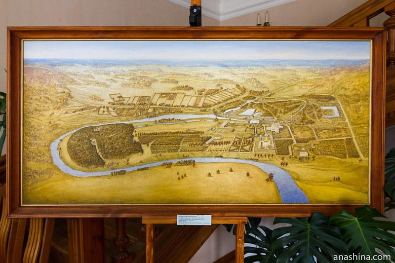 Панорама Полотняного Завода начала XIX века