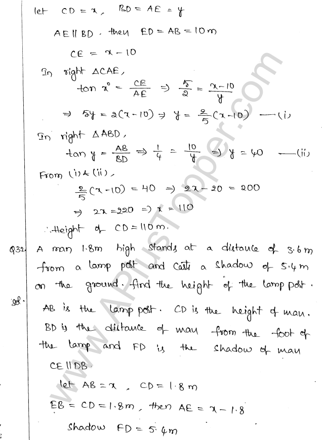 ml-aggarwal-icse-solutions-for-class-10-maths-chapter-21-heights-and-distances-34