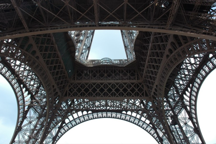 360° view under the Eiffel Tower - click on the image