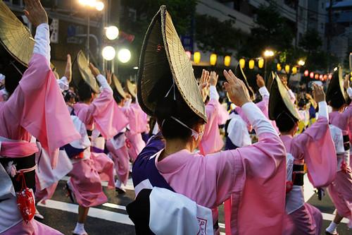 "Parade Of ""Awa"" Dance Started [ひょっとこ連 / 高円寺阿波踊り]"