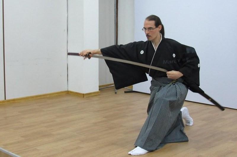 Demostración de Musô Jikiden Eishin ryû iaijutsu en el Nihon Gakko de Asunción (Paraguay)