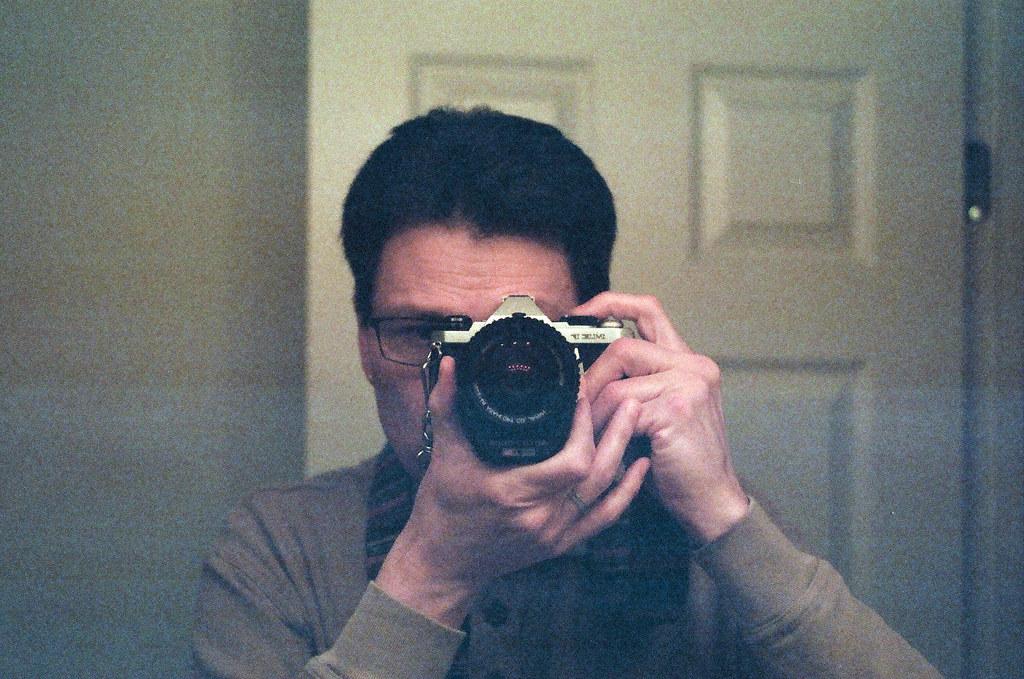 Overexposed selfie