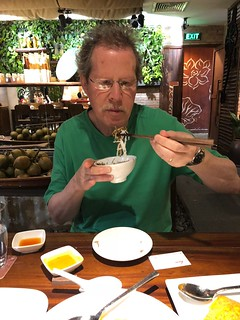 Man does chopsticks!