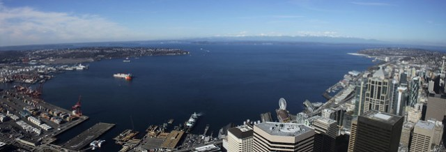 Elliott Bay panorama from Columbia Center