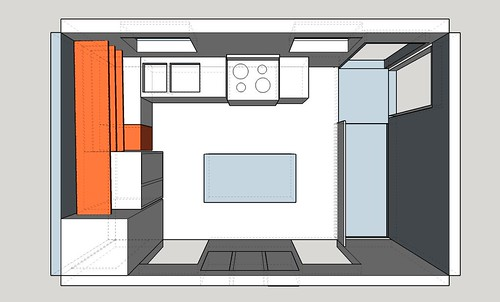 Kitchen layout plan
