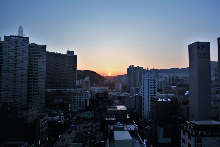 vue depuis hôtel arban busan