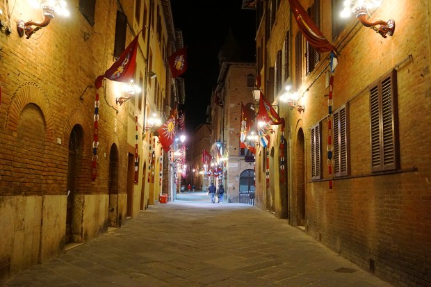 Celebration flags in Siena