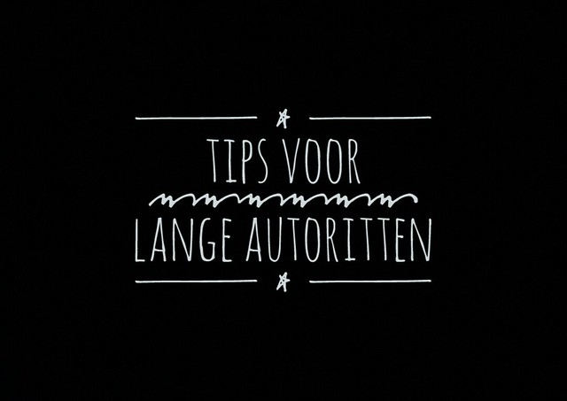 Tips voor lange autorit