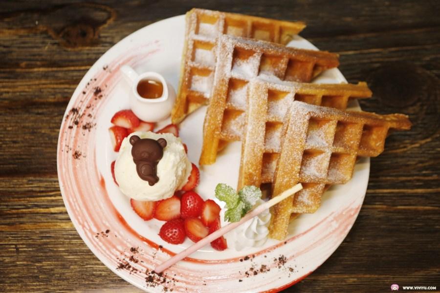 SAM Coffee,山姆咖啡,愛戀草莓鬆餅,桃園美食,桃園藝文特區,澳紐之星披薩 @VIVIYU小世界