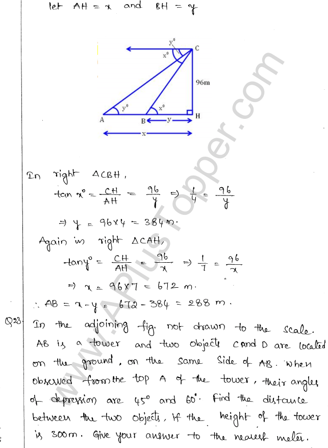 ml-aggarwal-icse-solutions-for-class-10-maths-chapter-21-heights-and-distances-22