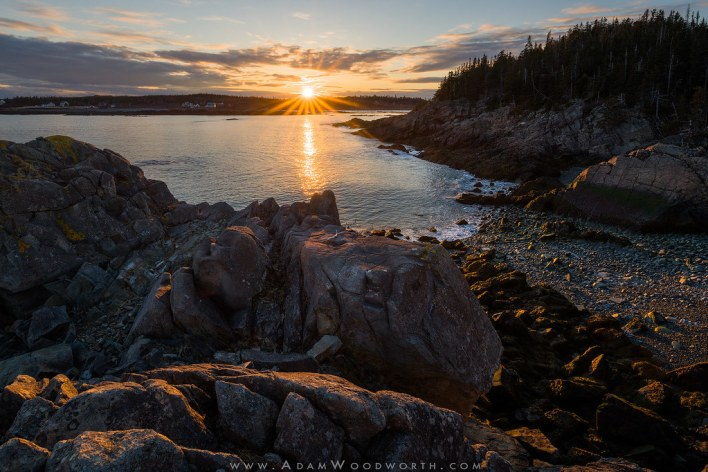 Sunset Over Carrying Place Cove