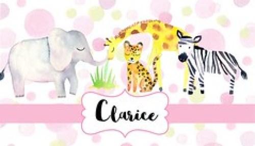 Jungle Animals-Pink