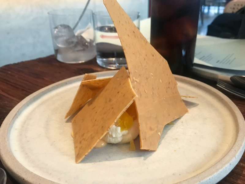 White chocolate, carrot, sea buckthorn ($8)