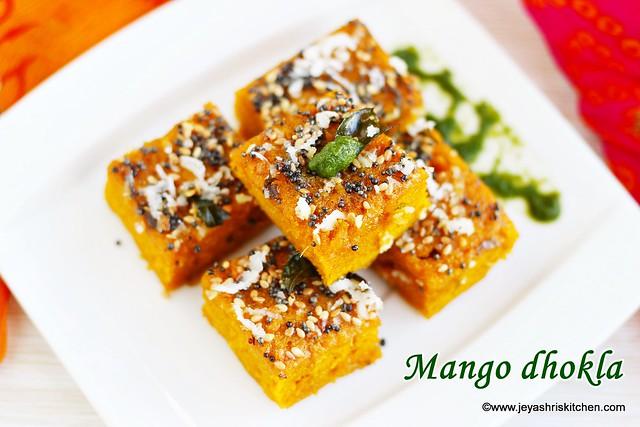 Mango-dhokla