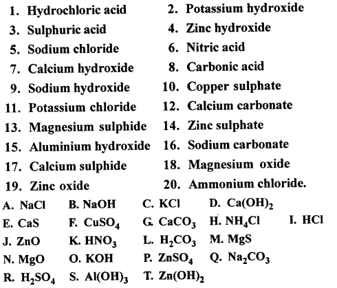 Selina Concise Chemistry Class 6 ICSE Solutions - Elements, Compounds, Symbols and Formulae 31