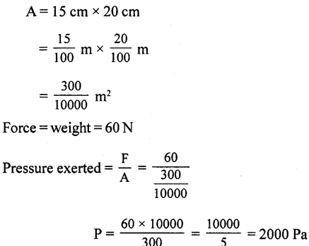 Selina Concise Physics Class 8 ICSE Solutions - Force and Pressure 21