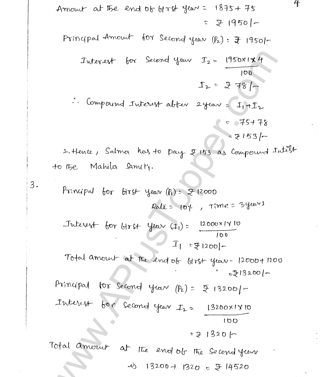 ML Aggarwal ICSE Solutions for Class 8 Maths Chapter 8 Simple and