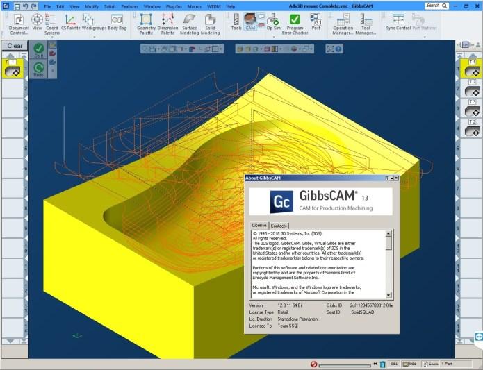 Program with GibbsCAM 2018 v13 Build 12.8.11.0 full license