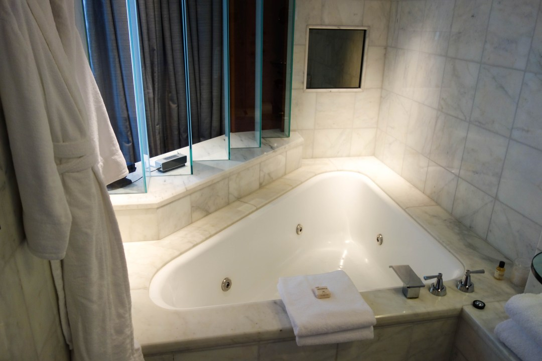 Jetted spa bath at the Park Hyatt Melbourne