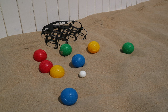Strandspelletjes petanque
