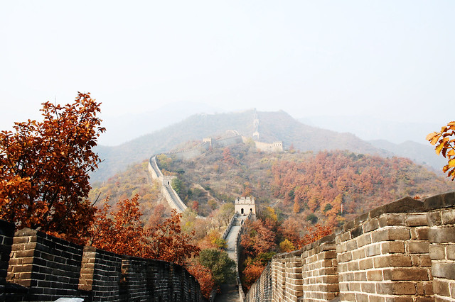 8c. Great Wall of China at Badaling and Ming Tombs Day Tour from Beijing