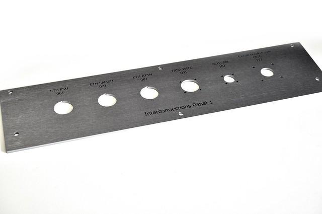 panel  frezowany w aluminium