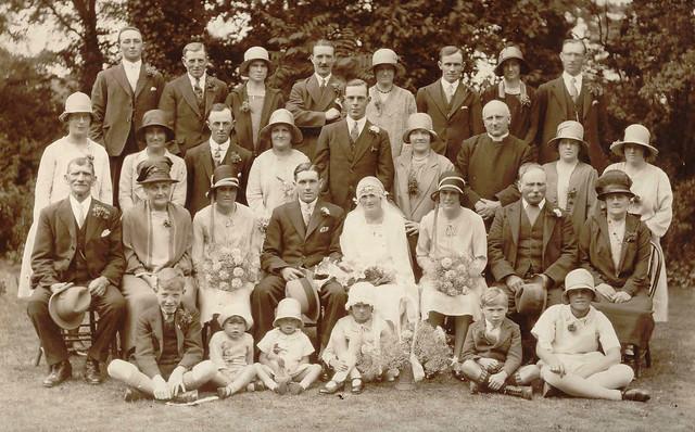George Edward Moden and Lily Dewey's Wedding, 1929