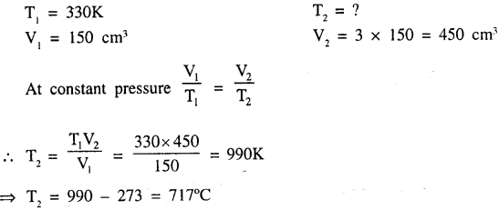 New Simplified Chemistry Class 9 ICSE Solutions - Study of The First Element - Study of Gas Laws 13.3