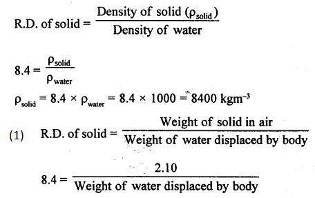A New Approach to ICSE Physics Part 1 Class 9 Solutions Archimedes' Principle..0105