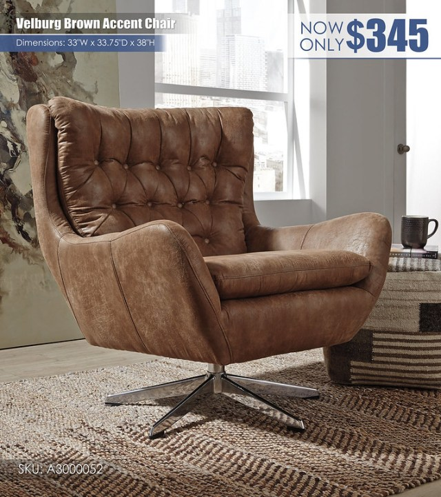 Velburg Brown Accent Chair_A3000052