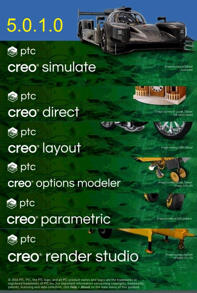 PTC Creo 5.0.1.0 x64 full license