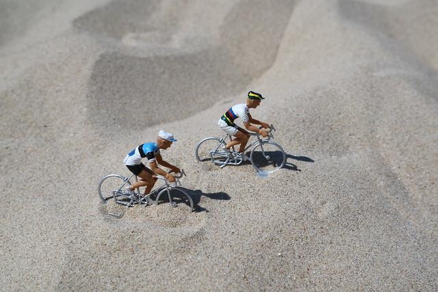 Strandspelletjes de coureurs