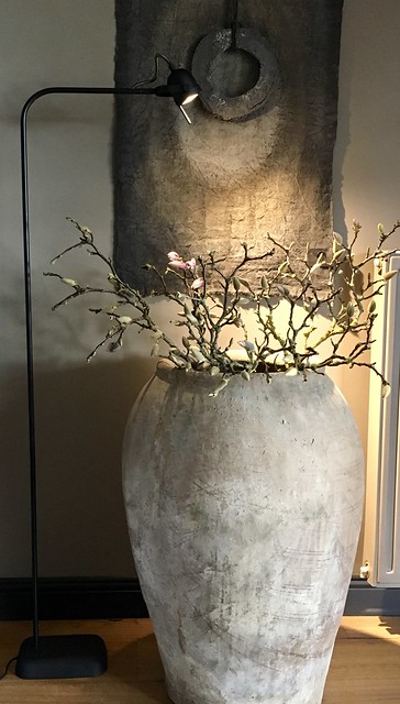 Lamp Hoffz, kruik, linnen doek