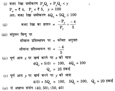 NCERT Solutions for Class 12 Microeconomics Chapter 2 Theory of Consumer Behavior (Hindi Medium) snq 8