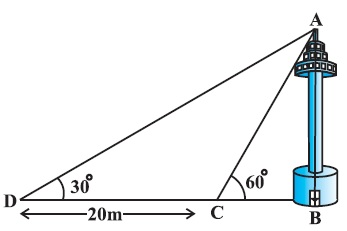 NCERT Solutions For Class 10 Maths PDF Some Applications of Trigonometry (Hindi Medium) 9.1 22