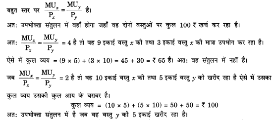 NCERT Solutions for Class 12 Microeconomics Chapter 2 Theory of Consumer Behavior (Hindi Medium) snq 5.2