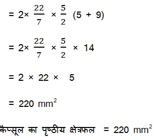 NCERT Books Solutions For Class 10 Maths Hindi Medium Surface Areas and Volumes 13.1 13