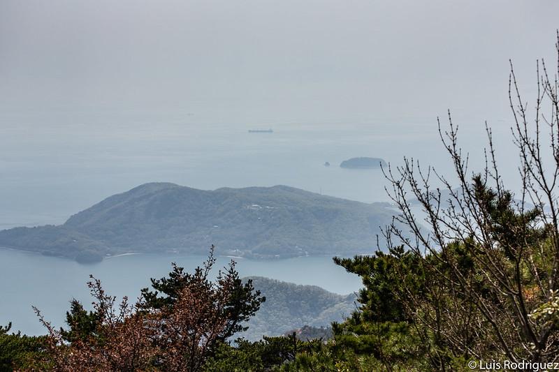 Vistas desde el mirador Shihozashi de Shodoshima