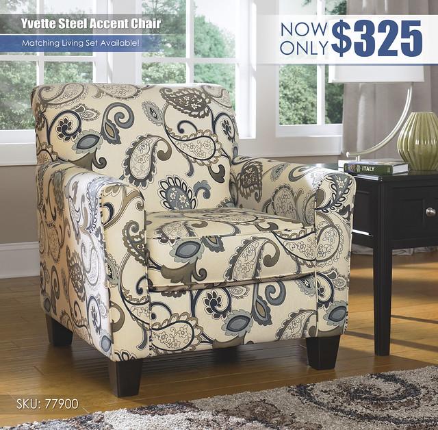 Yvette Steel Accent Chair_77900-21